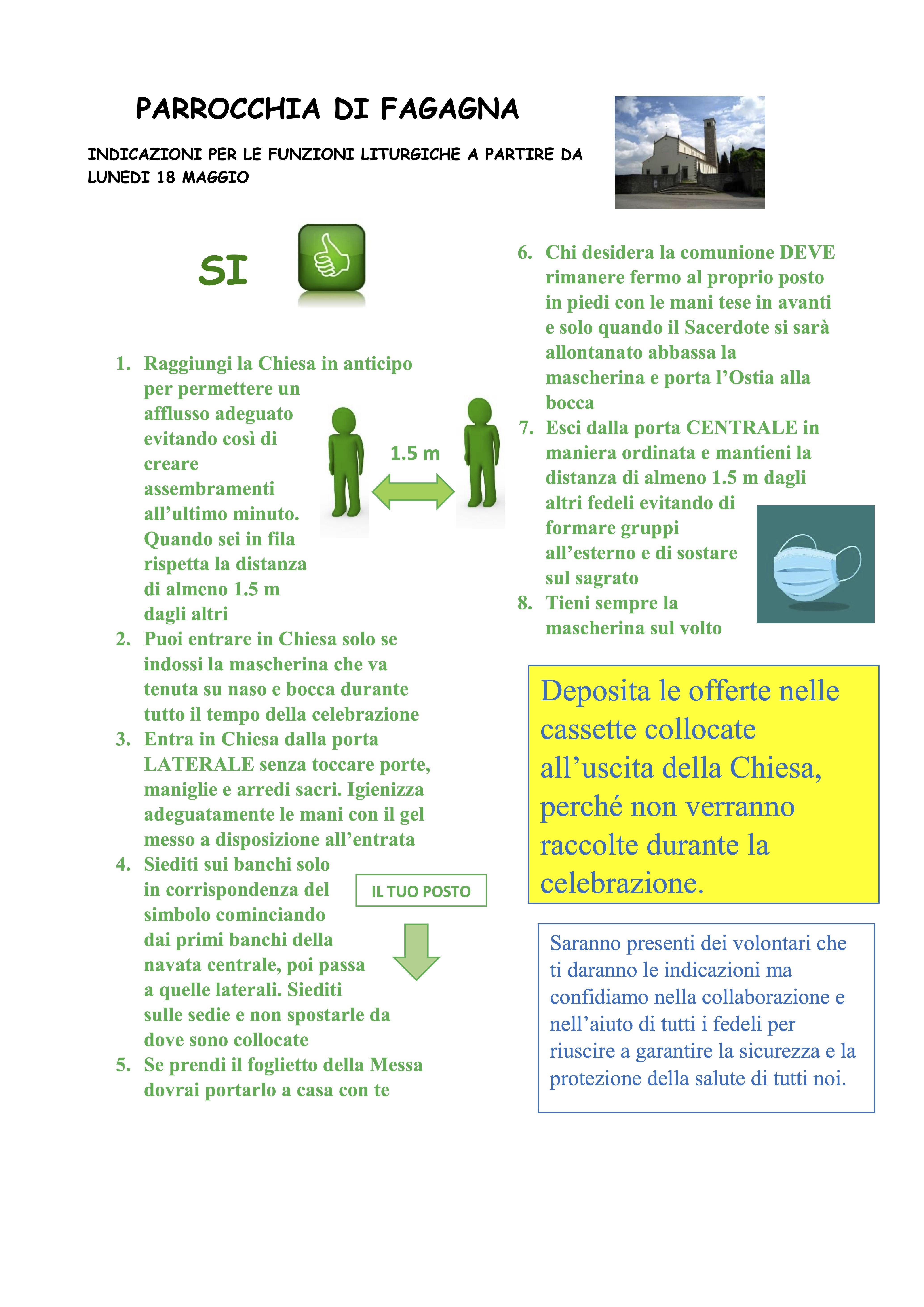 Accesso alla Santa Messa - Disposizioni per i Fedeli